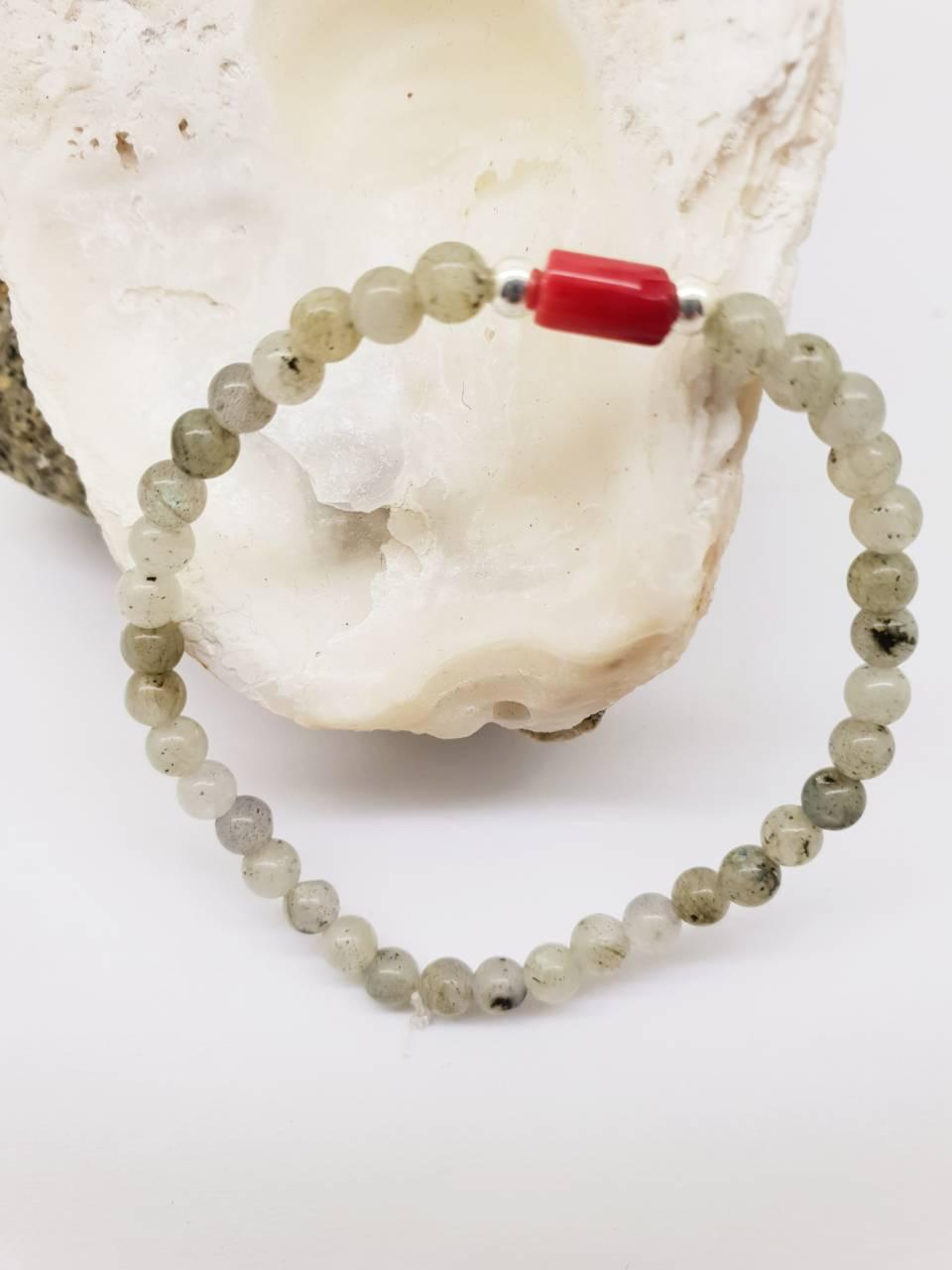 Création de bracelet perles naturelles Labradorite