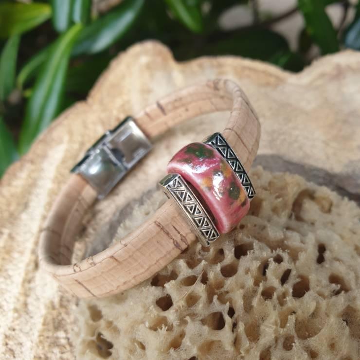 Bracelet liège naturel plat