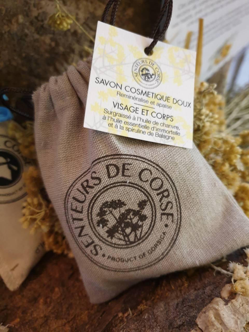 Savon huile essentielle d'immortelle Corse