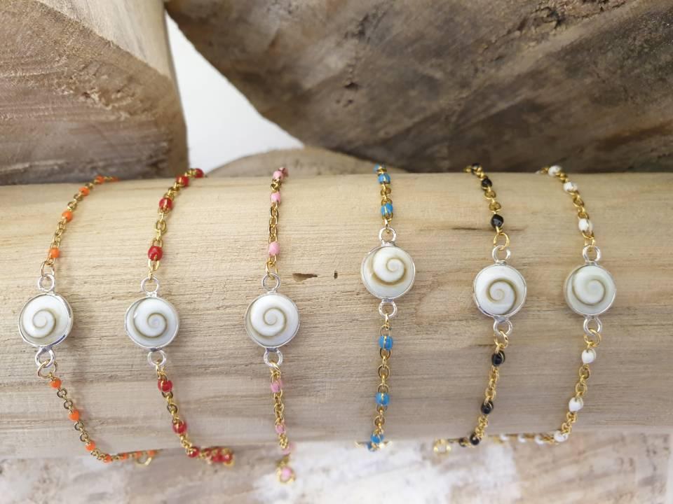Bracelets acier inoxydable avec oeil de sainte lucie