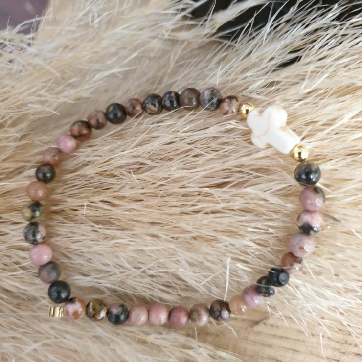 Bracelet pierres naturelles rhodochrosite