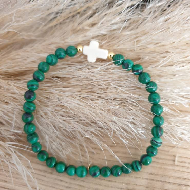 Bracelet pierres naturelles malachite