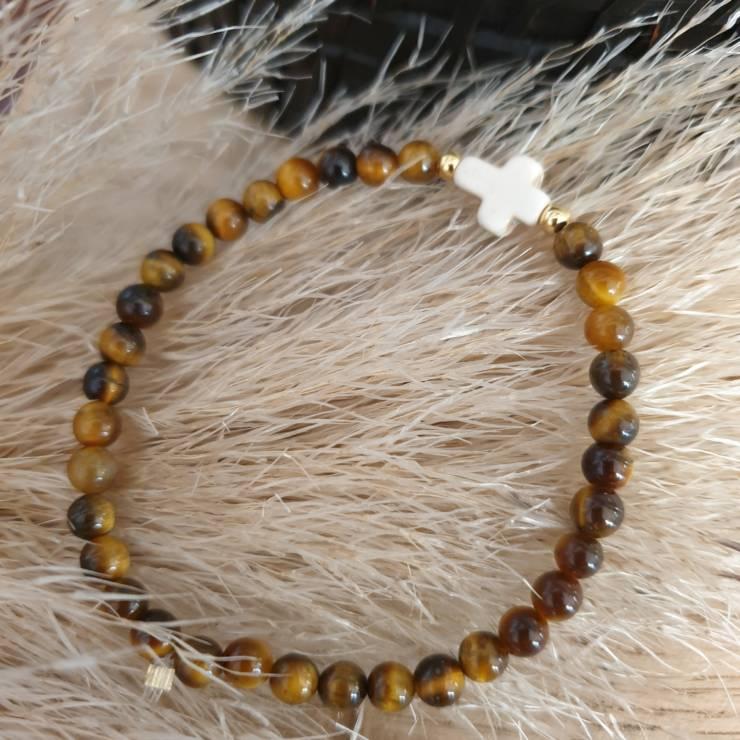 Bracelet pierres naturelles oeil du tigre