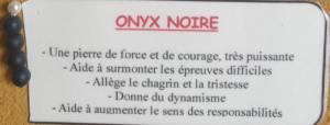 Bracelet pierres naturelles onyx noire