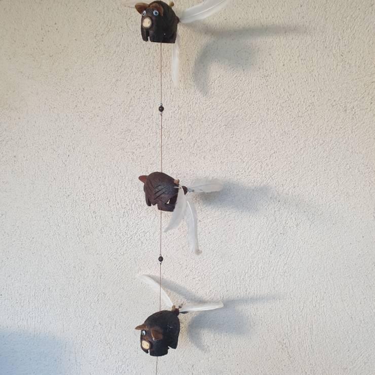 Suspensions mobiles cochons